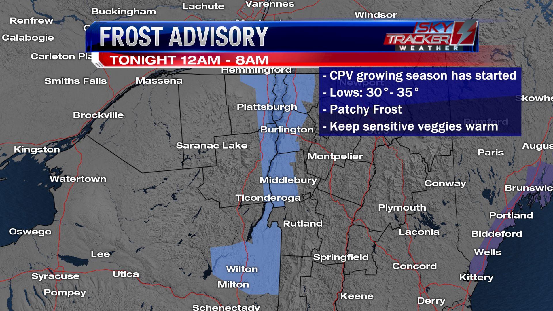 Frost Advisory May 9 2019
