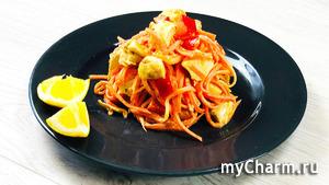 Салат из корейской морковки и курицы - просто вкуснятина ...