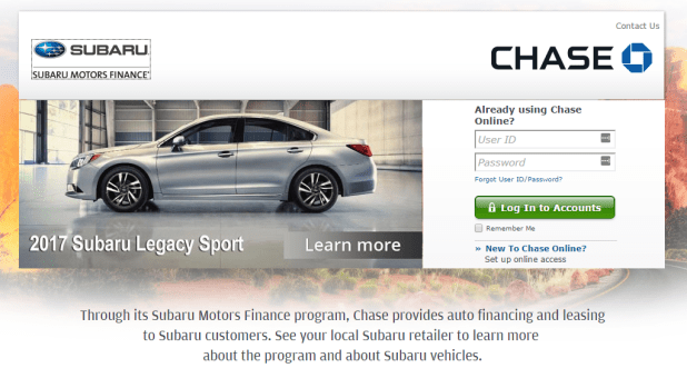 subaru motors finance contact
