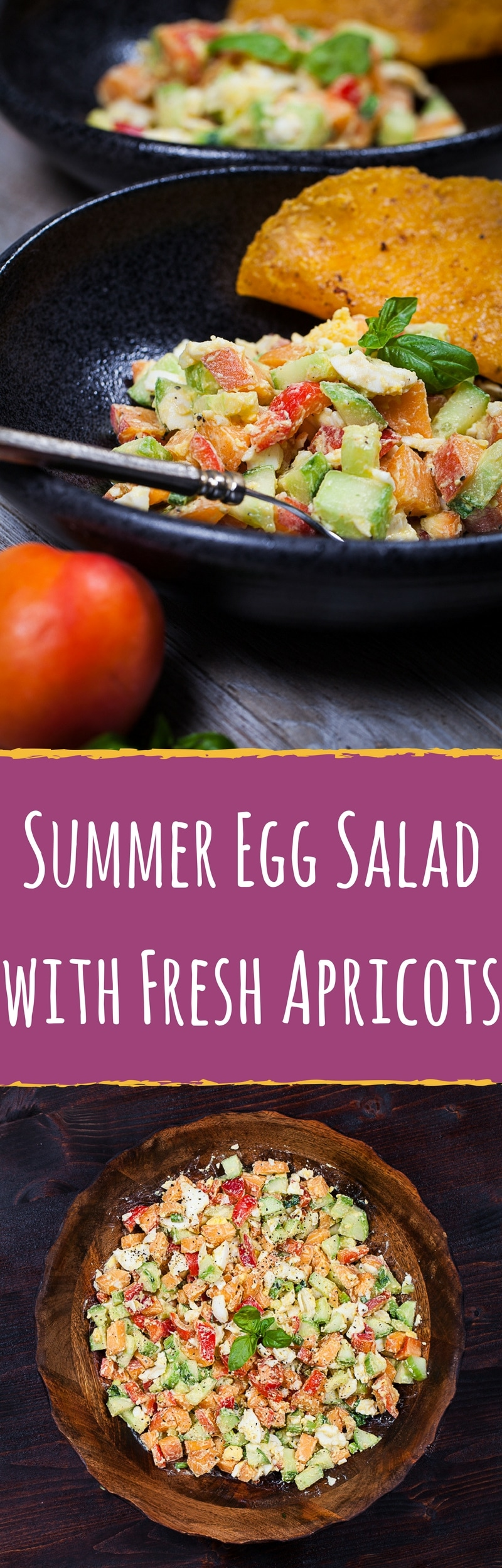 Summer Egg Salad with Fresh Apricots