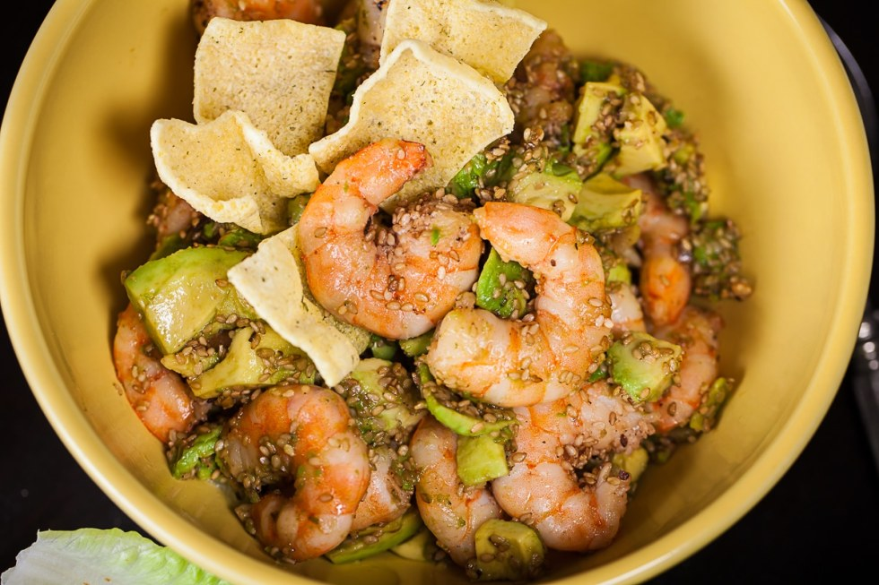 gluten-free recipes, lunch idea, light dinner, shrimp recipe, healthy recipes, shrimp salad, sesame shrimp recipes, easy meals, post workout meals