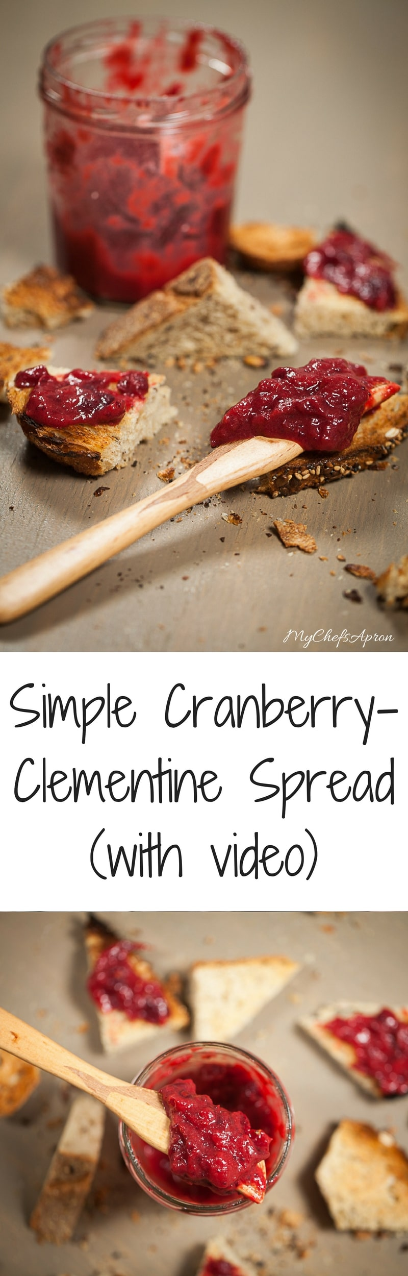 Simple Cranberry Clementine Spread
