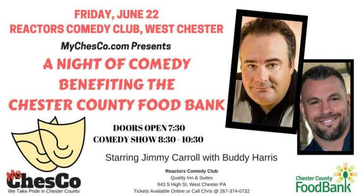 MyChesCo Announces a Comedy Night Supporting the Chester County Food Bank