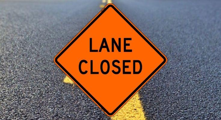 lane closure - traffic alert