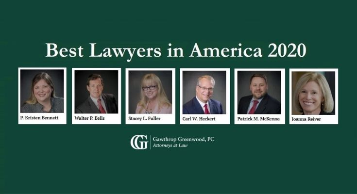 Six Attorneys from Gawthrop Greenwood, PC Recognized as Best Lawyers In America 2020