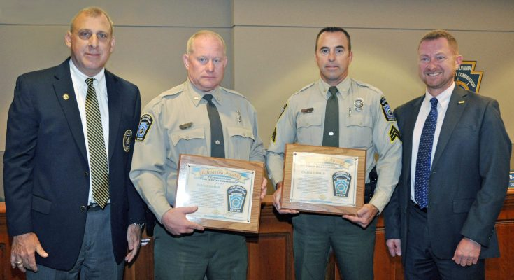 Pennsylvania Fish and Boat Commission Honors Law Enforcement Officers with Lifesaving Awards