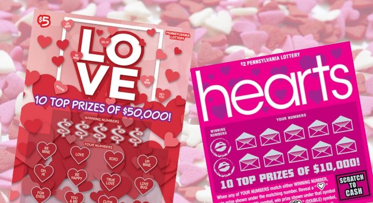Pennsylvania Lottery's Lucky in Love Second-Chance Drawing Opens Offering a Total of $210,000 in Prizes