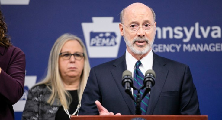 Governor Wolf and Secreatary Levine at PEMA