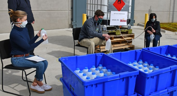 Chester County Bottles 825 Gallons of Hand Sanitizer for Front Line COVID-19 Workers