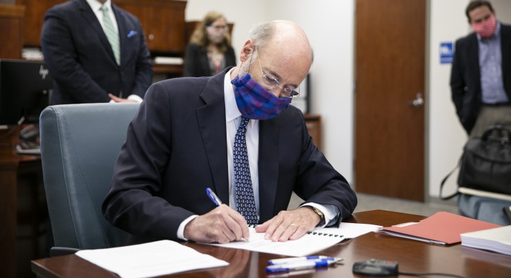 Gov. Wolf Signs Executive Order Extending Mail Ballot Deadline in Six Counties to June 9