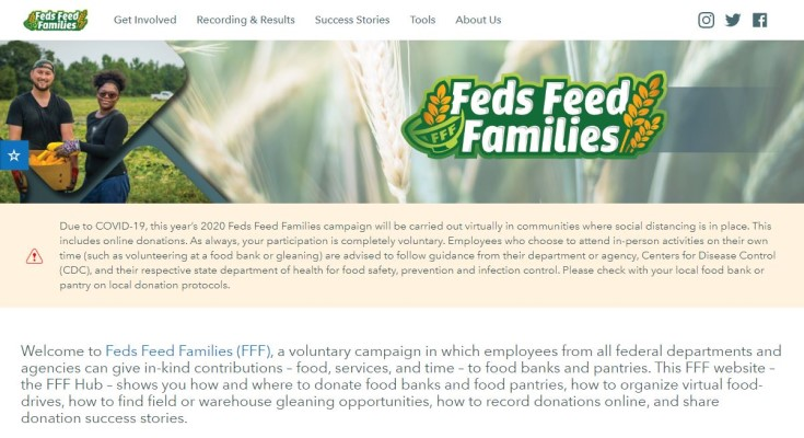 USDA Launches 2020 Feds Feed Families Nationwide Food Drive