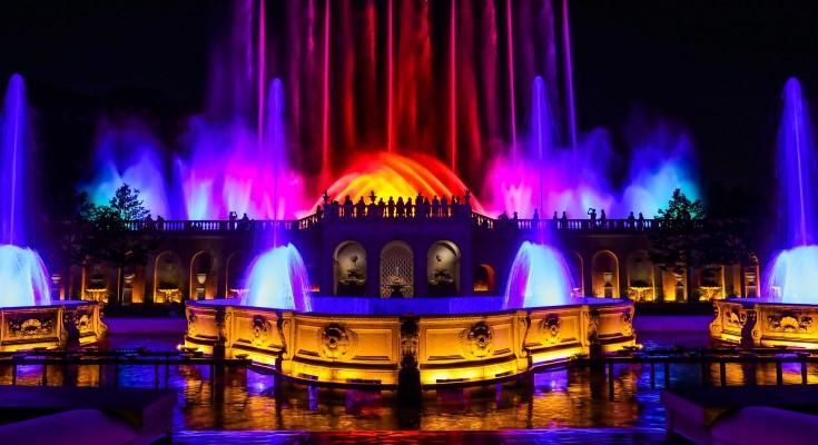 Longwood Gardens' Illuminated Fountain Performances Return