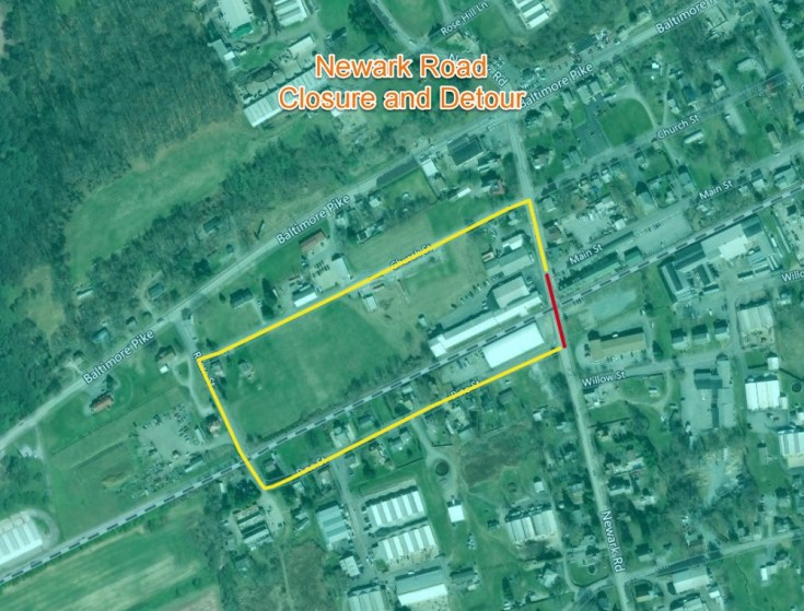 East Penn Railroad to Close Newark Road for Grade Crossing Improvements in New Garden Township