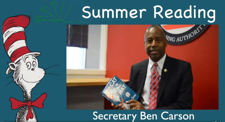 Secretary Ben Carson Releases New Summer Reading Video from Envision Center