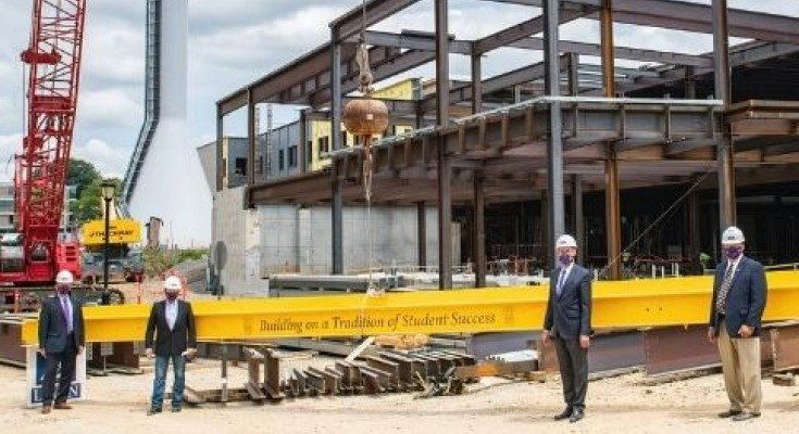 West Chester University Hoists Final Steel Beam on The Sciences & Engineering Center and The Commons