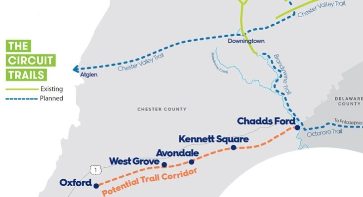 Planning Commission to Hold Virtual Public Meeting on Southern Chester County Trail Project