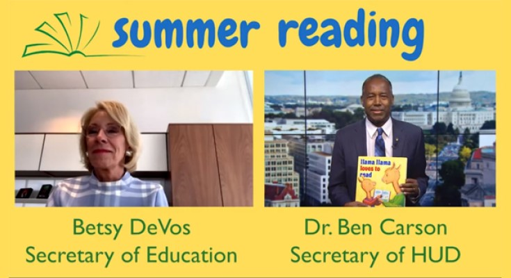 Secretaries Carson and DeVos Release New Video as Part of Summer Reading Series
