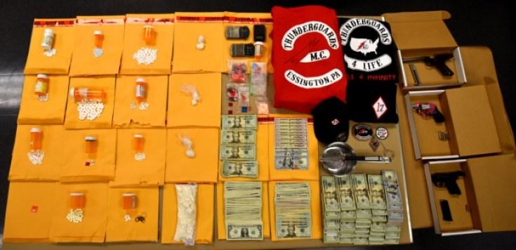 Guns, cocaine and additional drug paraphernalia
