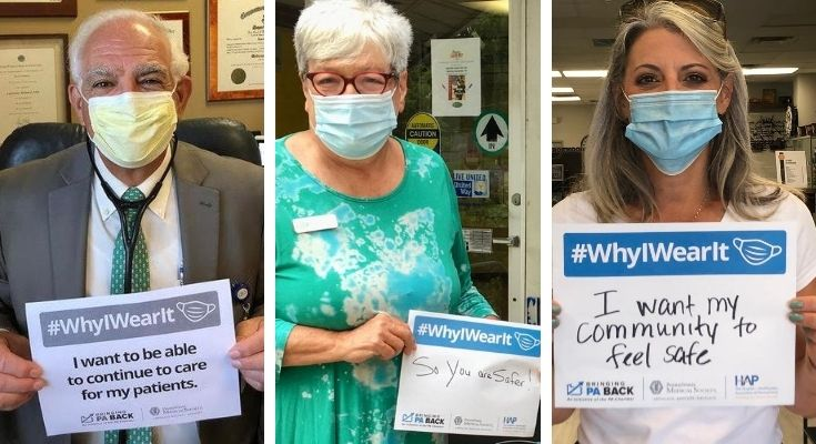 PA Chamber Joins Forces with PA Medical Society, Hospital and Healthsystem Association of PA on #WhyIWearIt Mask Campaign