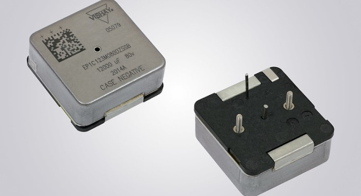 Vishay Intertechnology Extends EP1 High Energy Wet Tantalum Capacitor With New Ratings in the B and C Case Codes