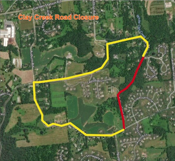 Clay Creek Road to Close for a Bridge Replacement Project in Franklin Township, Chester County