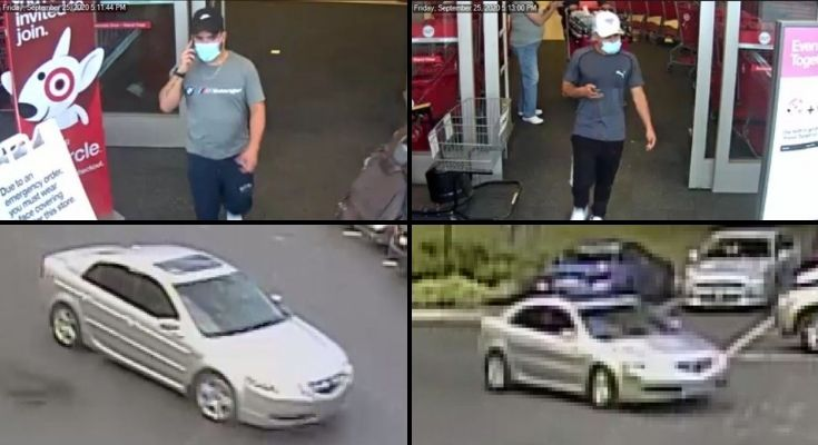 Police Release Surveillance Photos of Theft from Vehicle Suspects