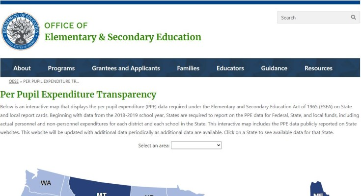 Secretary DeVos Launches New Web Tool to Help Parents, Educators Easily Access School Spending Data