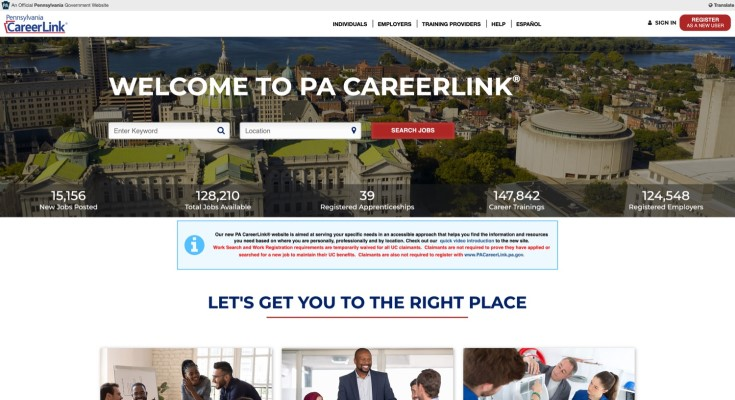 L&I Launches Redesigned PA CareerLink® Website to Help Pennsylvanians Find Work