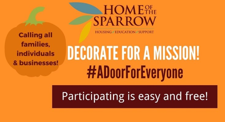 Home of the Sparrow Launches Door-decorating Contest for Chester County Residents and Businesses