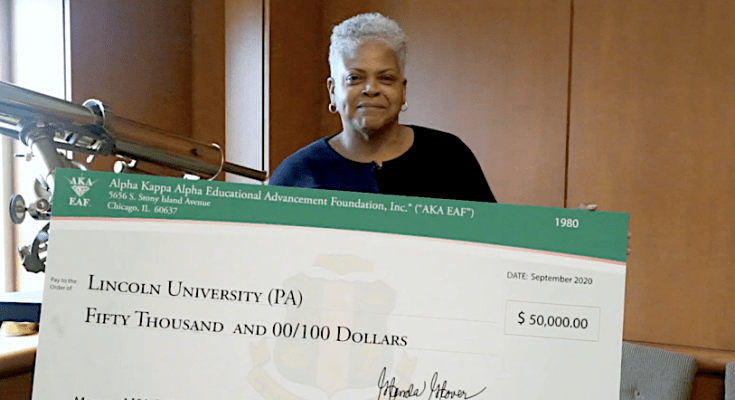 Lincoln University Receives Endowment From Alpha Kappa Alpha Sorority, Inc.®