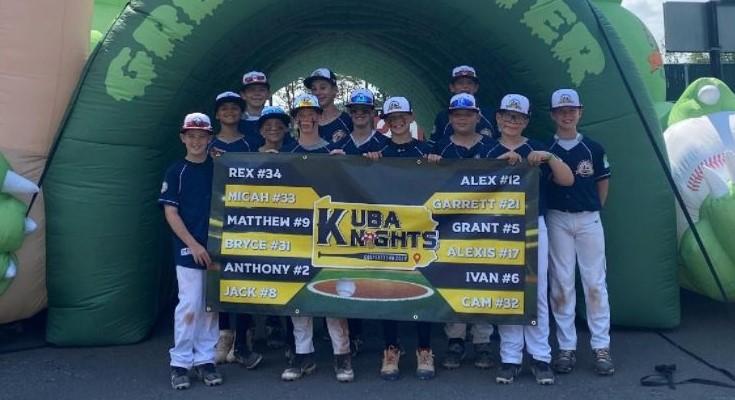 12U KUBA Knights Travel Baseball team