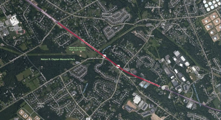 US 322 Conchester Highway Lane Closure