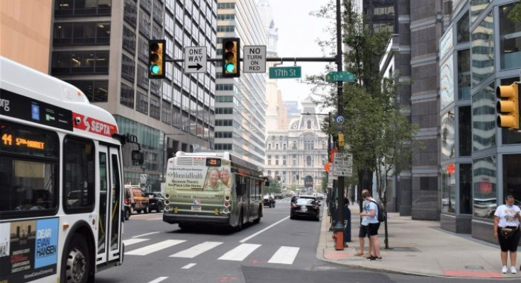 Market and JFK Bus-only Lanes