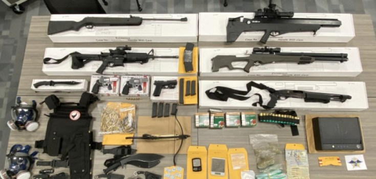 seized guns and drugs