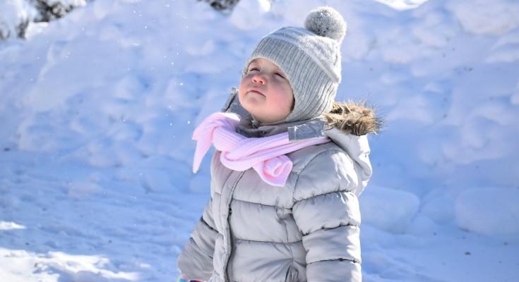 child with coat