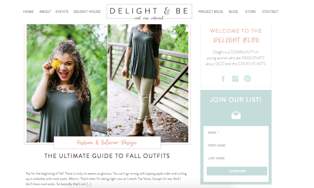 featured on delight and be