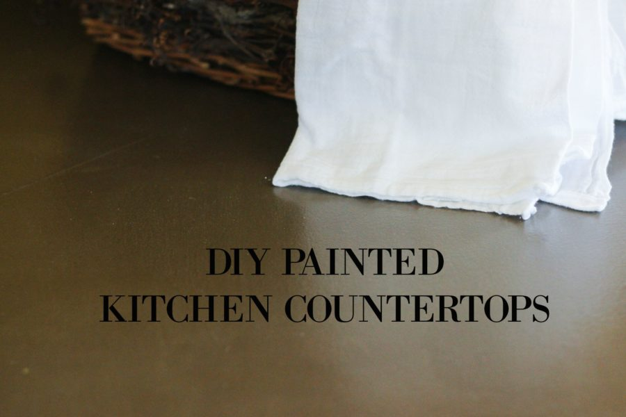diy painted kitchen counters diy split level wall renovation my chic obsession