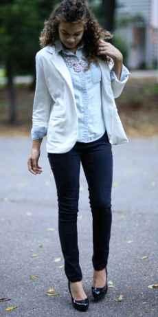 how to wear a white blazer. white blazer outfit ideas. white on white