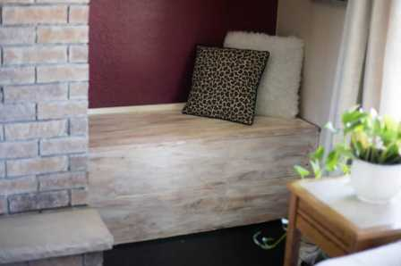 diy fireplace wood box makeover