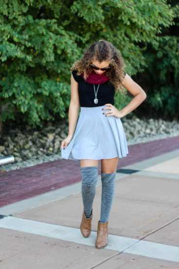 thigh high socks fall