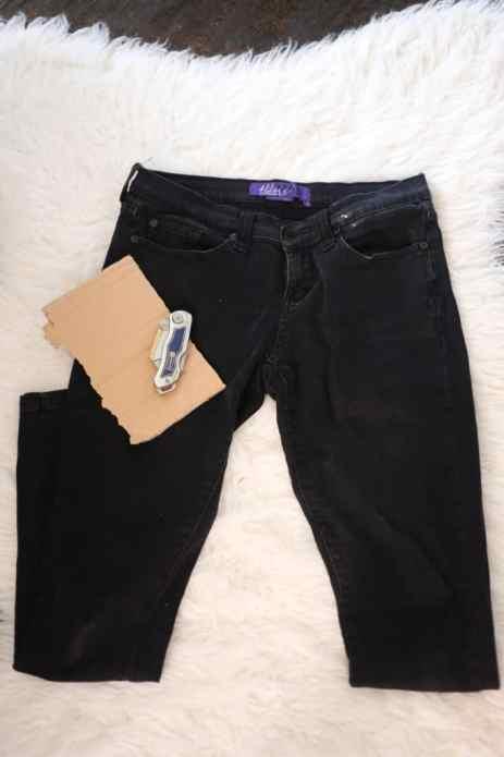 diy ripped skinny jeans