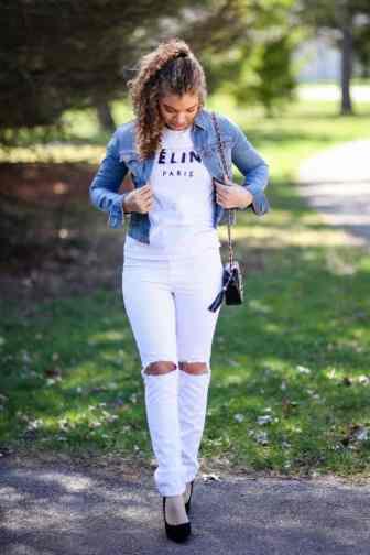 white jeans for spring