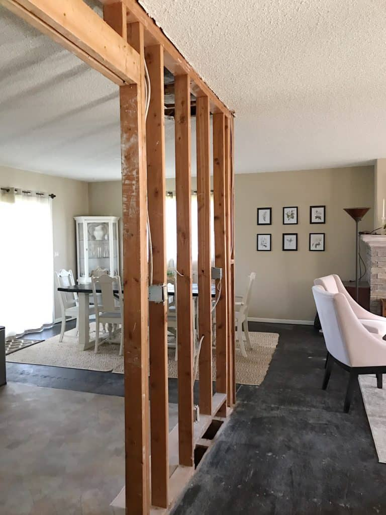 DIY Split Level Wall Renovation - My Chic Obsession on game home designs, dome home designs, smith home designs, contemporary home designs, wood home designs, duplex home designs, federal home designs, barn style home designs, shed home designs, bungalow home designs, residential home designs, studio home designs, farmhouse home designs, attic home designs, mansard home designs, adirondack home designs, general home designs, single slope home designs, antique home designs, gay home designs,