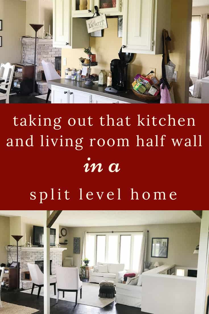split level half wall