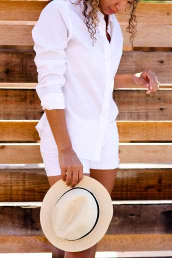 all white summer outfit