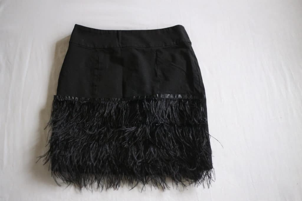 diy feather fringe skirt