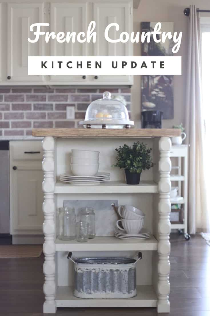 French Country Kitchen | Faux Marble Countertops & Brick ...