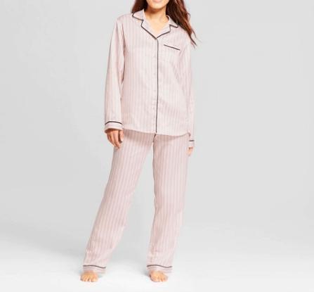 valentine's day silk pajama set
