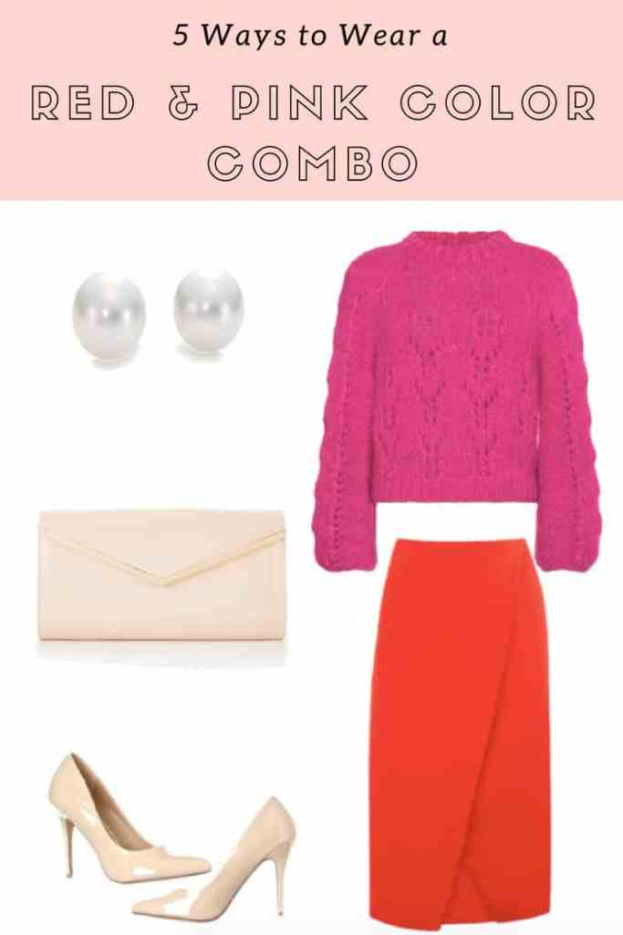 red and pink color combo