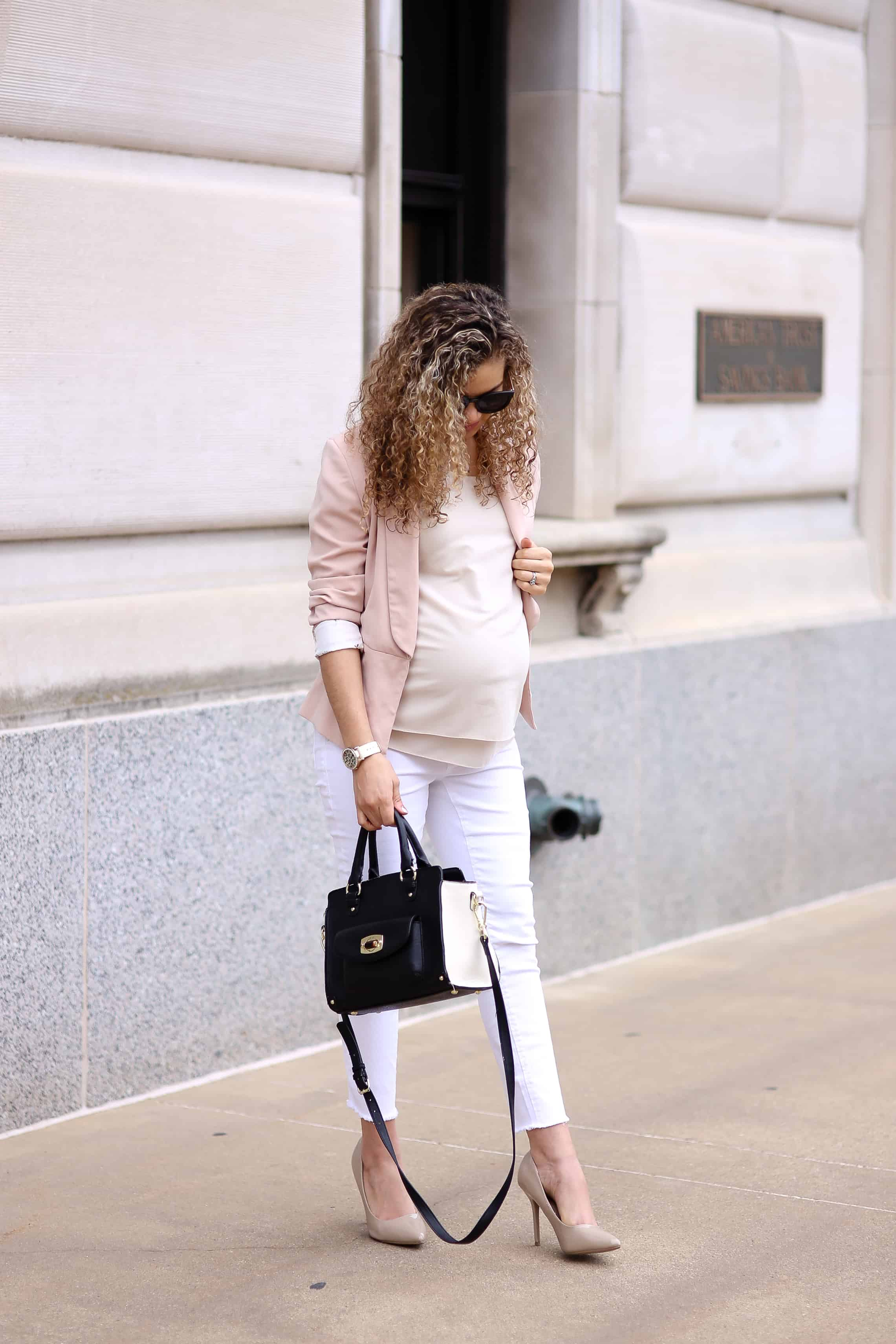 white jeans to work